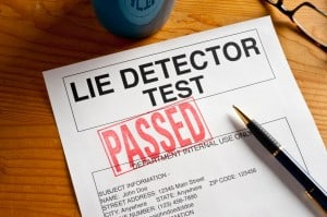 lie detector test paper with passed