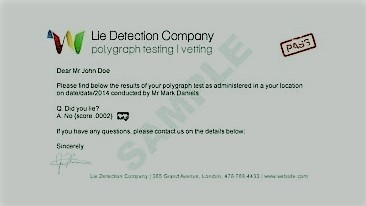 Fake Lie Detector Test Lie Detectors UK