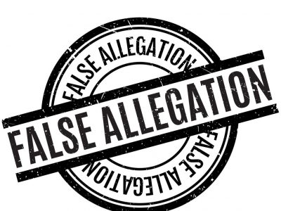 false allegation rubber stamp vector