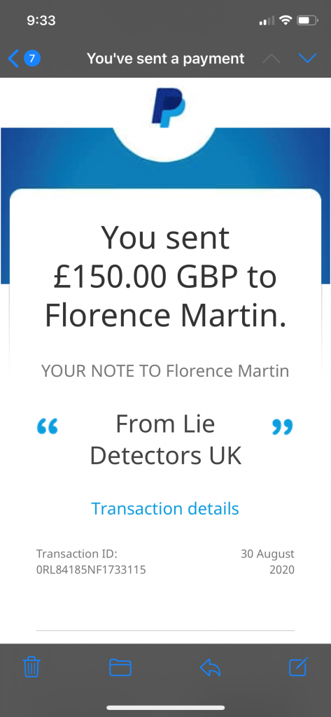 Charity Donation from Lie Detectors UK for the MS Society Lie Detectors UK